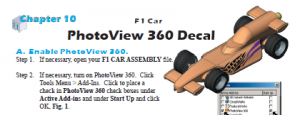 F1 Car PhotoView 360 Decal